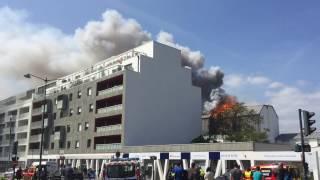 Incendie Route de Lorient 22 avril 2017