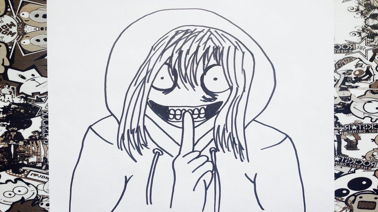 Como dibujar a jeff the killer  how to draw jeff the killer  YouTube