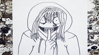 Como dibujar a jeff the killer   how to draw jeff the killer