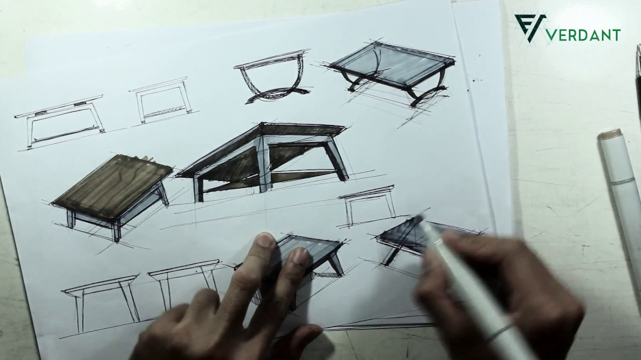 Furniture Sketches How To Sketch Furniture Youtube