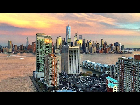 Manhattan & World Trade Center - Evening to Night Time Lapse [NoCopyright]
