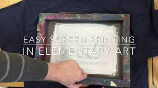 Elementary Art - How to Screen Print a T-Shirt (easy stencil method)