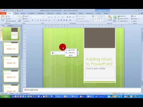How To... Add Music to a Presentation in PowerPoint 2010