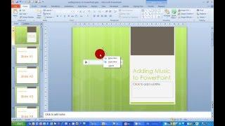 Comment Ajouter de la Musique à une Présentation dans PowerPoint 2010