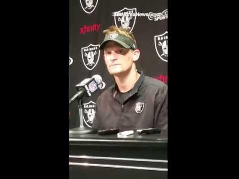 "Raiders defensive coordinator Jason Tarver talks about DT Antonio Smith being a ""presence"" on defens"