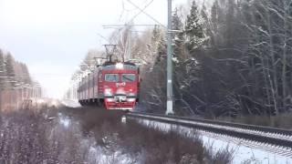 ЭТ2М-051 на перегоне Тайцы - Пудость(Балтийский вокзал, линия Лигово - Гатчина., 2016-11-06T08:24:43.000Z)