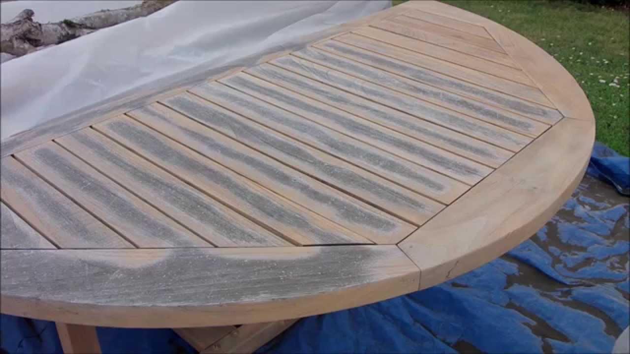 D capage d une table en teck youtube - Renover une table en teck ...