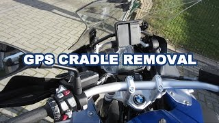 BMW R1200GS Adventure GPS Cradle Removal