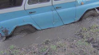 видео на уазе по грязи