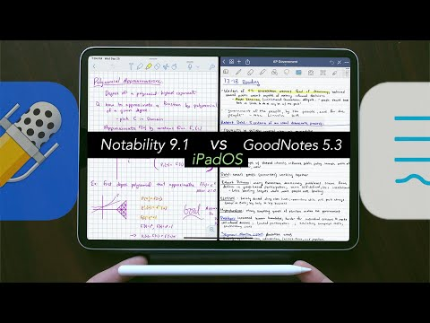 GoodNotes vs Notability! (iPadOS Comparison)