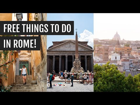 Free Things To Do In Rome: Pantheon, City Views, And Piazzas! | Italy Day 9