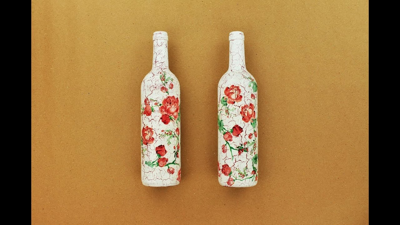How to make decoupage bottles with their own hands. Decoupage bottles napkins: master class 91