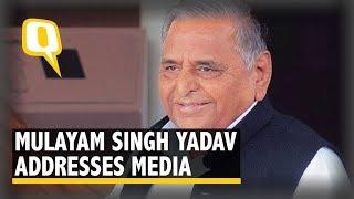 Mulayam Singh Yadav Addresses Media