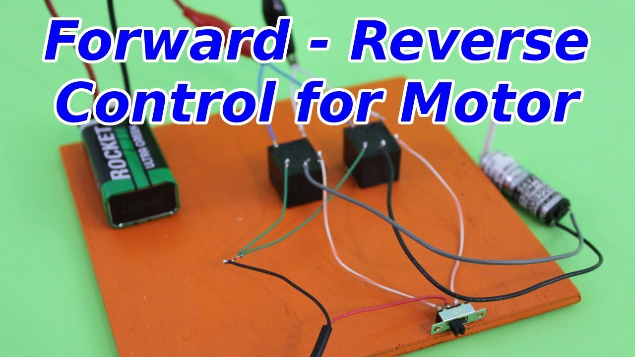 Forward Reverse Control of Electric Motor with Relays