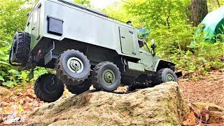RC CAR WPL B36 Ural Military Truck Metal 2-Speed 370 Motor Rock Crawling TEST