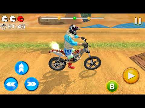 Tricky Bike Racing With Crazy Rider 3D - Gameplay Android Game - Stunt Bike Games 2018
