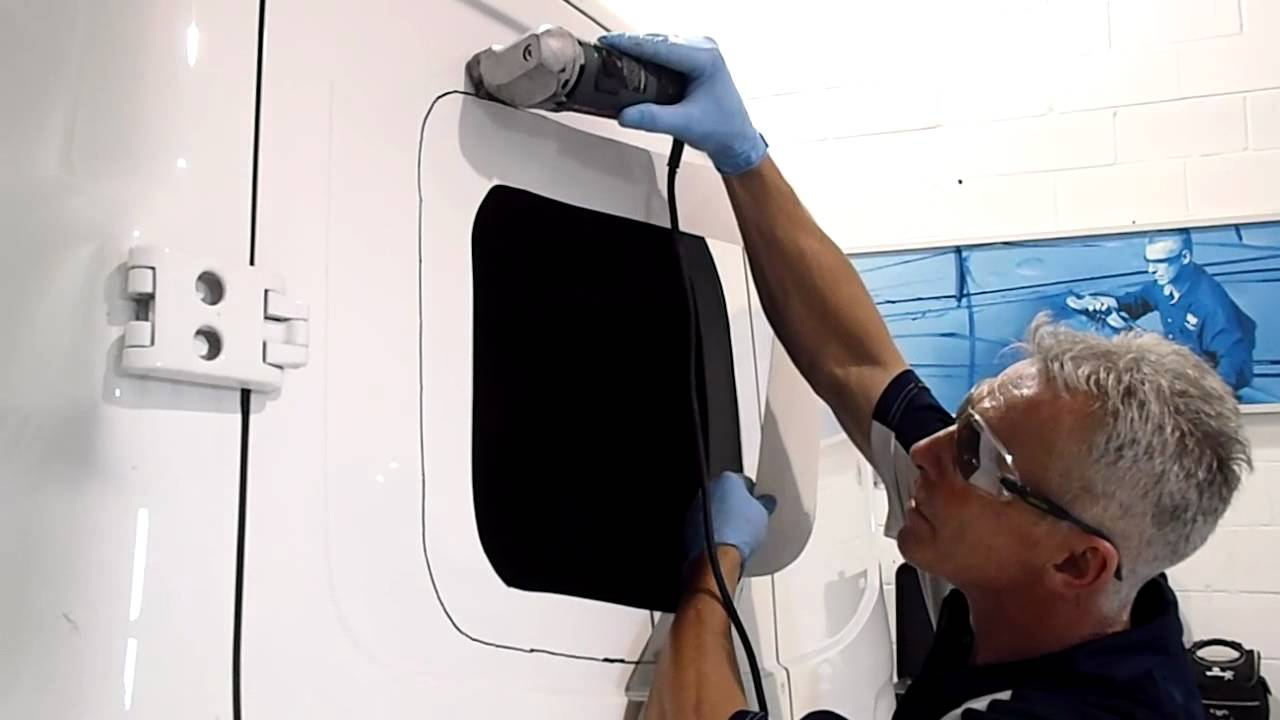 Custom Installation Of Back Windows On A Van Youtube