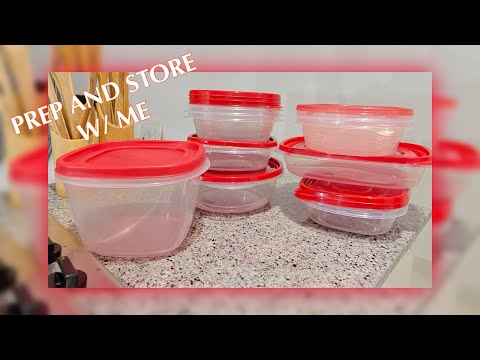HOW I PREP AND STORE MY FOOD || HEALTHY EATING