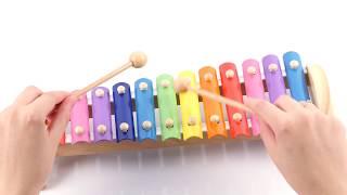 Обзор детского деревянного ксилофона, 12 тонов, «Мир деревянных игрушек»