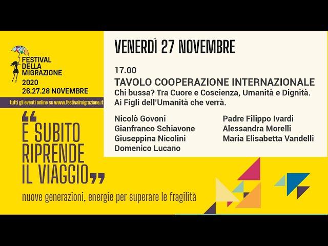 Terza sessione Festival della Migrazione 2020 // Venerdì 27 novembre