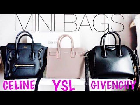 d6dbc8c6916 MINI BAG REVIEW: Celine Nano vs YSL Sac De Jour vs Givenchy Antigona ...