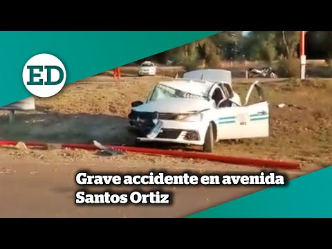 grave-accidente-en-avenida-santos-ortiz:-el-estado-del-chofer-es-reservado