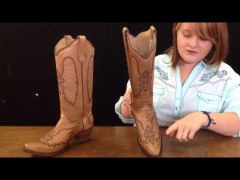 Gainesville,Florida Western Wear boots Circle G Cognac Wing & Cross Corral Boots - JC Western Wear