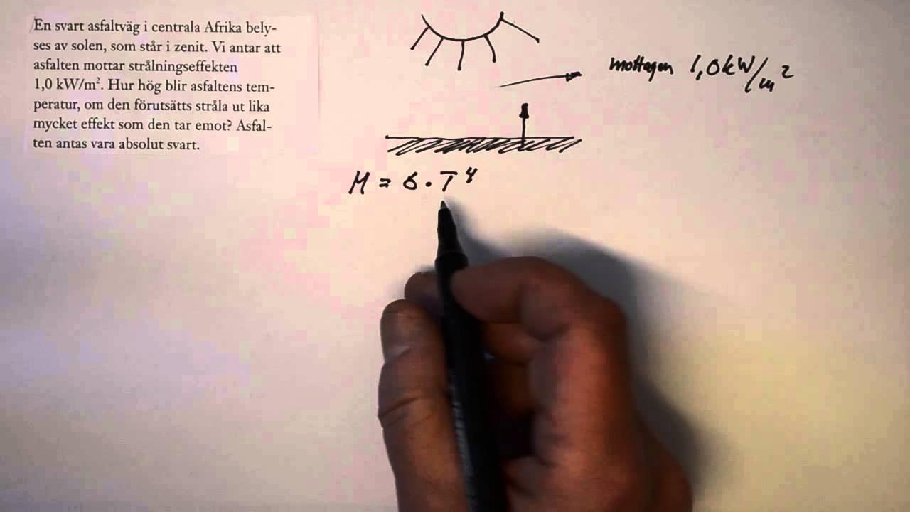 Gy Fysik 2 Heureka Kap 12 övn 12.4 En svart asfaltväg i centrala Afrika...