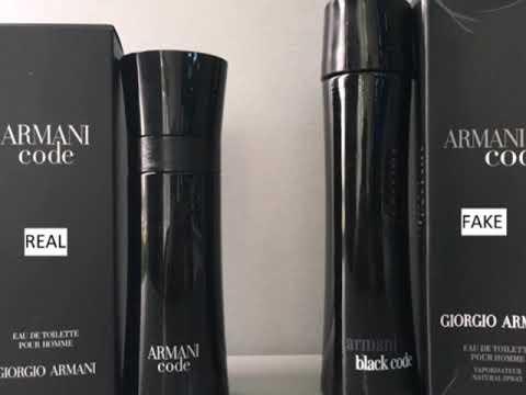 Fake Vs Real Armani Code Men Perfume