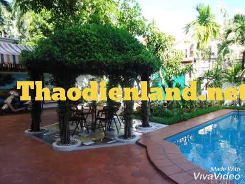 Biệt thự Thảo Điền Quận 2 đẹp đầy đủ hồ bơi sân vườn, 502 m2