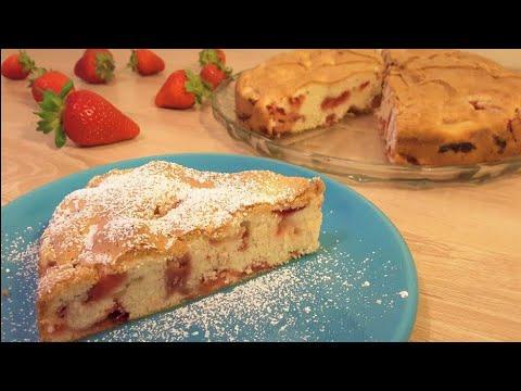 kolač-sa-jagodama-u-5-min-,-4-sastojka-/-strawberry-cake-in-5-minutes