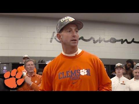 Dabo Swinney's Locker Room Speech | Clemson Wins 2017 ACC Championship