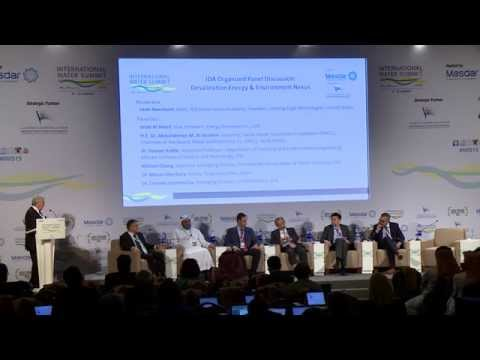 IDA Panel Desalination Energy & Environment Nexus