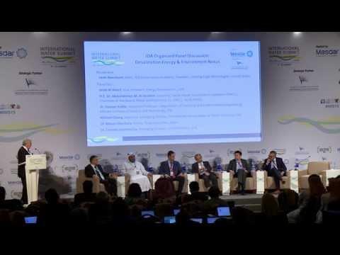 IDA Panel Desalination Energy & Environment Nexus