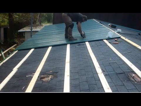 How To Metal roof for cheap
