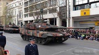 Военный парад в Афинах на