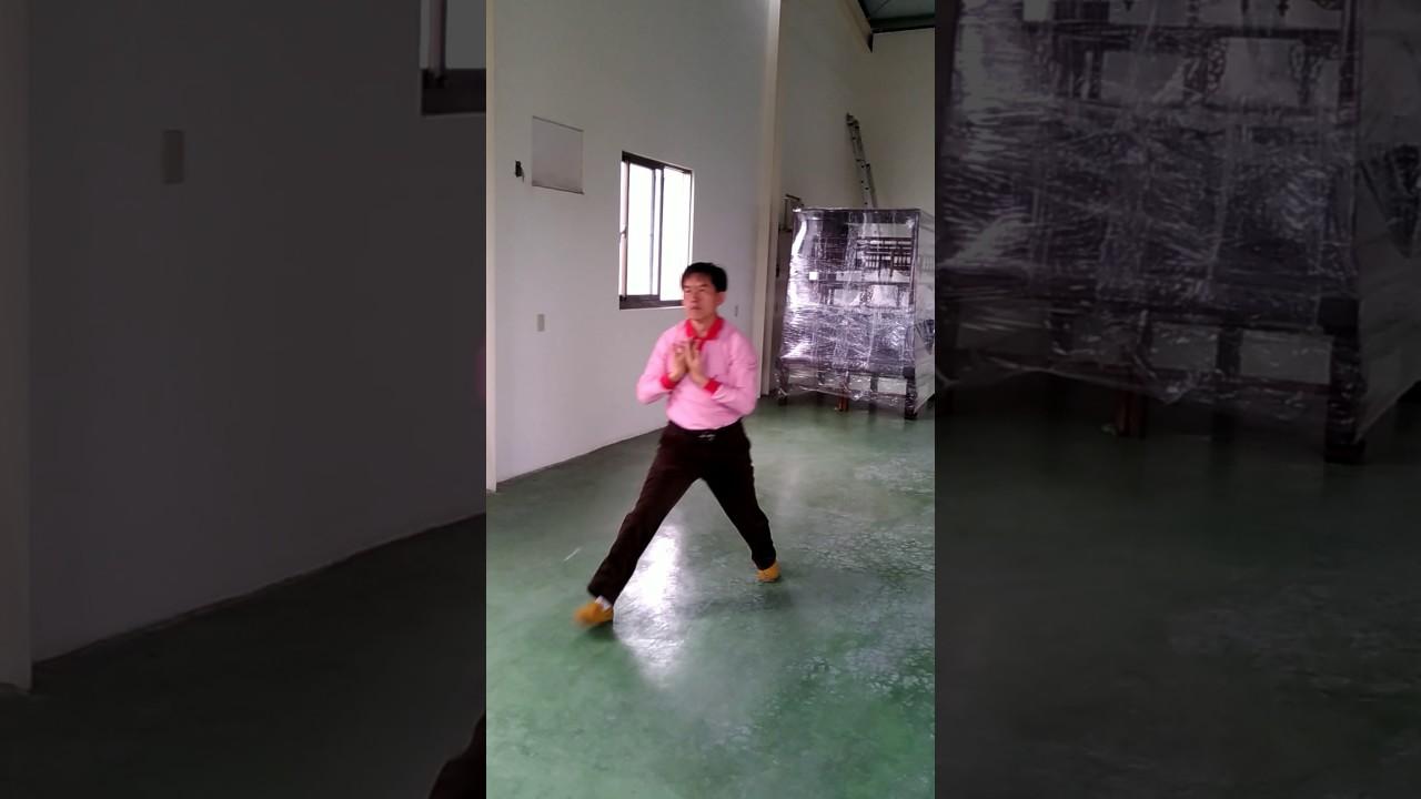 臺中西屯二高白鶴拳(五步手套) - YouTube