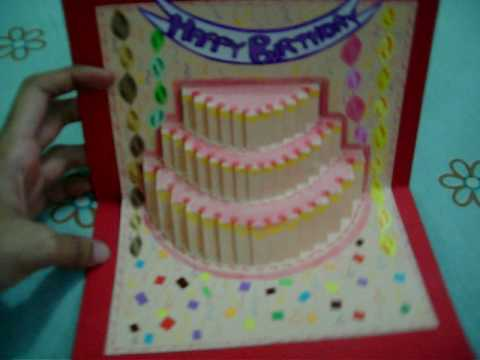 Pop up birthday card YouTube – Make a Pop Up Birthday Card