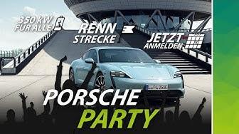 Porsche-Party: Dein Auto auf der Rennstrecke + Freistrom für alle. Taycan-Erlebnis gewinnen!