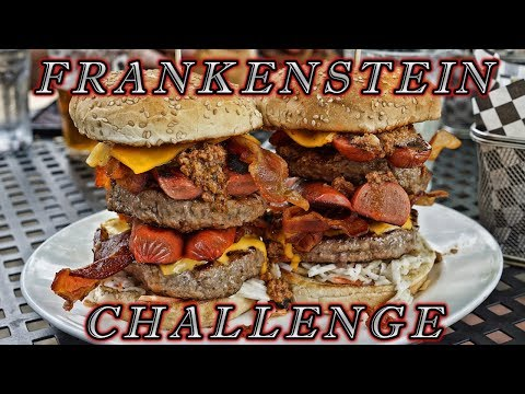 LUXE BURGER FRANKENSTEIN CHALLENGE | MAN VS FOOD
