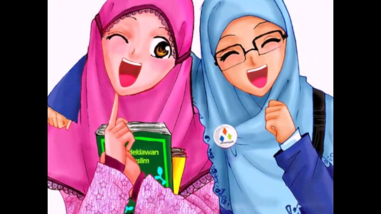 Gambar Kartun Wanita Berhijab Update Status