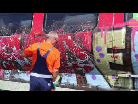 Graffiti removal  - DSB Denmark