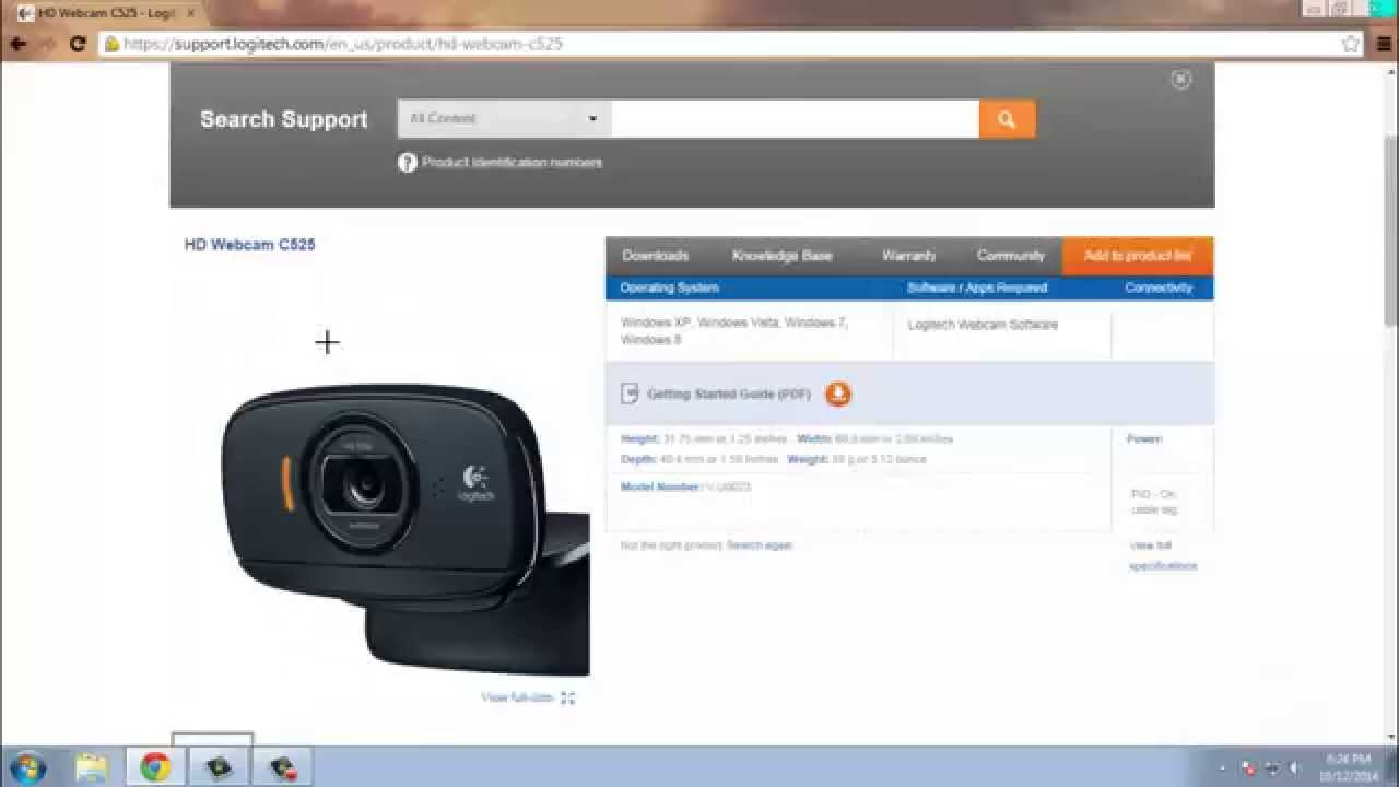 How To Download Install Drivers For Logitech C525 Hd Webcam For Free Hd Youtube