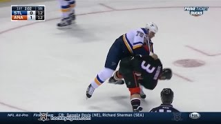 Ryan Reaves vs Clayton Stoner Jan 2, 2015