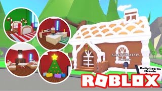 Custom Gingerbread House Design Ideas Building Hacks Roblox Adopt Me Santa S Cabin Youtube