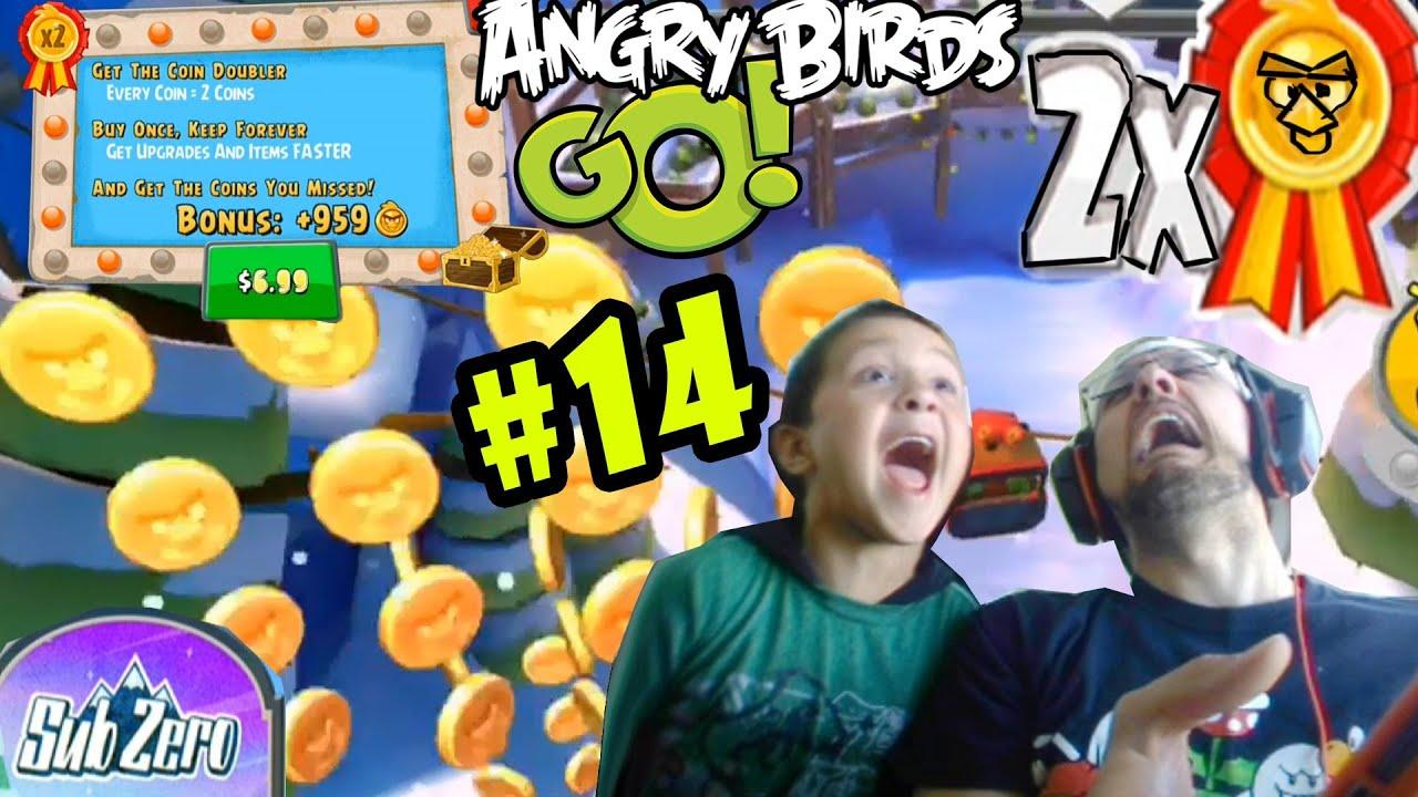 Angry Birds GO! SUB-ZERO Pt. 14 COIN DOUBLER! + STUNT