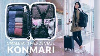 Cómo organizar la maleta de mano - 1 mes de viaje | KONMARI