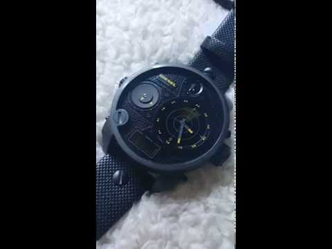 Diesel DZ7296 Mr.Daddy Yellow Radar Effect in Action - Gracious Watch