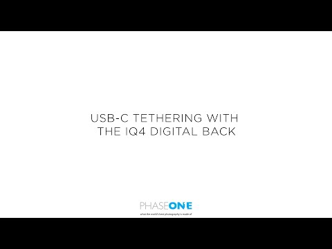 Support | Connecting the IQ4 via USB-C | Phase One