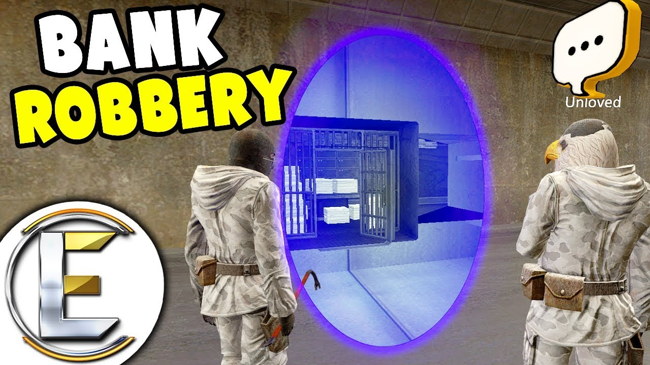Bank Robbery Using Portals - Gmod DarkRP Life (Teleporting With Portal Makes It Easy)